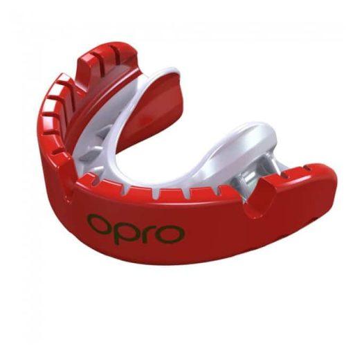 Opro gebitsbeschermer gold braces rood
